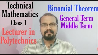 Binomial Theorem for Lecturer in Polytechnics