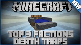 Top 3 Factions Death Traps | Minecraft Redstone Machine | Redstone Tutorial