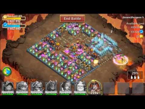 Castle Clash All Insane Dungeon 5 (1-10) [F2P]