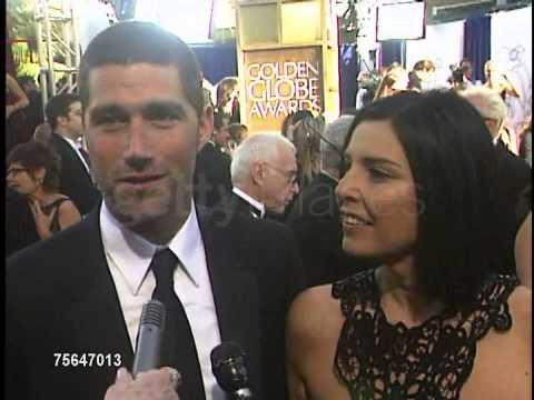 Matthew Fox and Wife Golden Globes