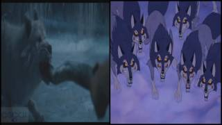Beauty and the Beast Wolves Scene  2017 vs 1991