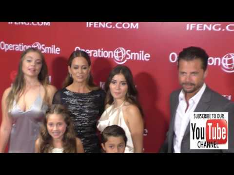 Brooke Burke Charvet, David Charvet and their kids at the Operation Smile's Annual Smile Gala at the
