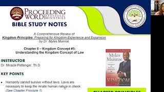 2020_1203 PWAM Bible Study: Kingdom Principles - Chapter 8 - KINGDOM LAW - Part 1