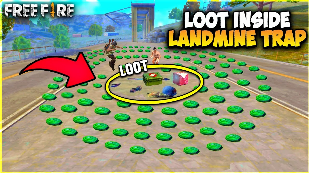 Loot Challenge Inside The Landmines In Free Fire - Garena Free Fire