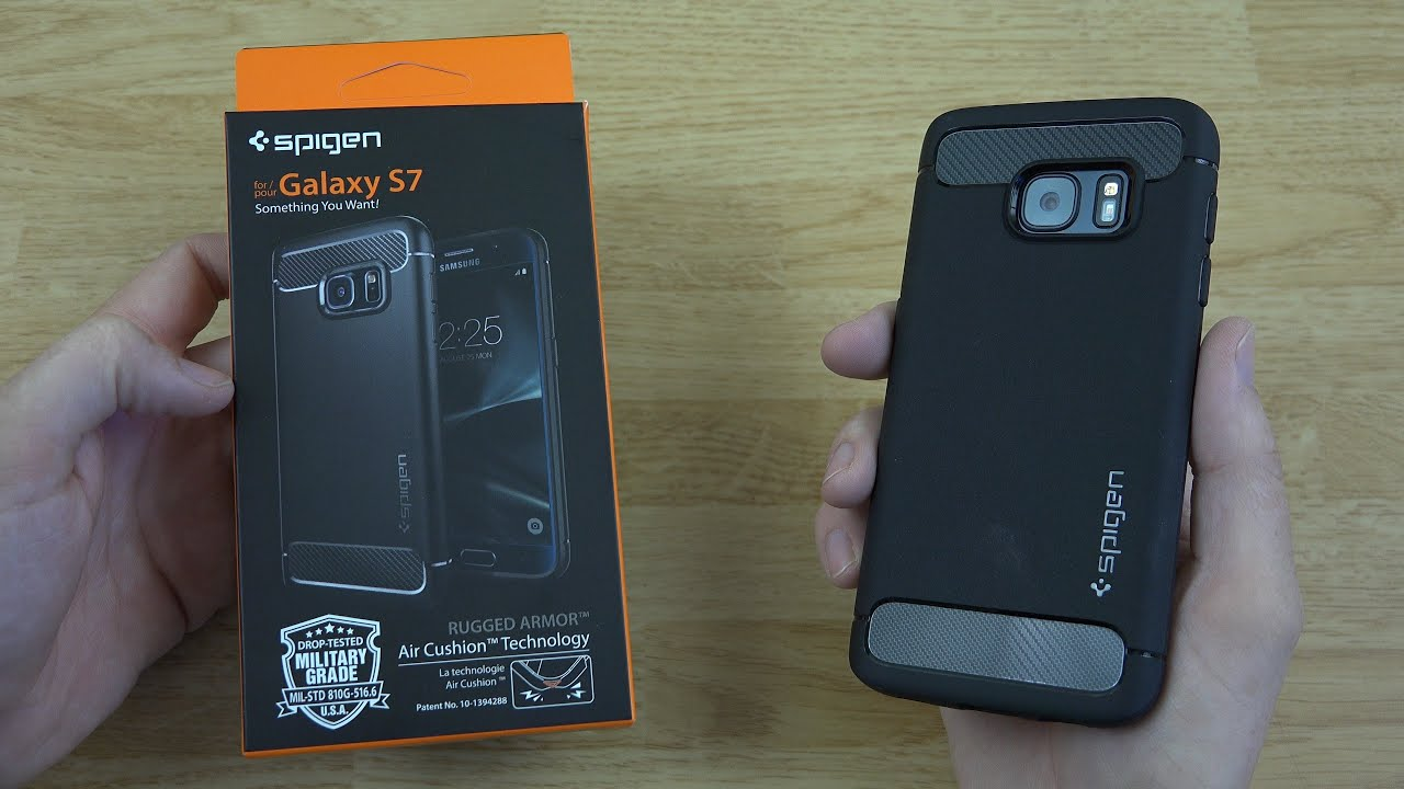 new product d346e 7ce8f Spigen Galaxy S7 Case (Rugged Armor) Unboxing