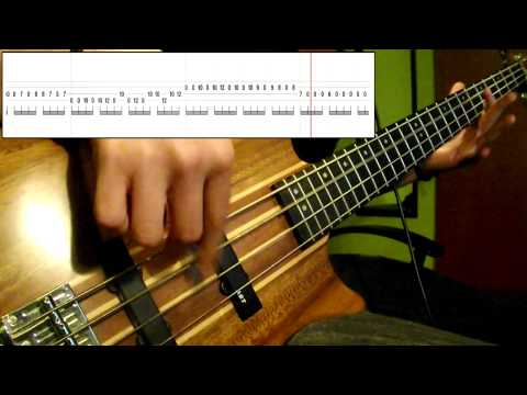 Muse - Hysteria (Bass Cover) (Play Along Tabs In Video)