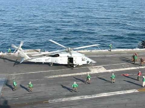 SH-60 Seahawk taking off from USS Enterprise