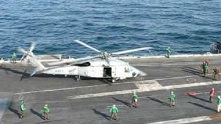 SH-60 Seahawk taking off from USS Enterprise