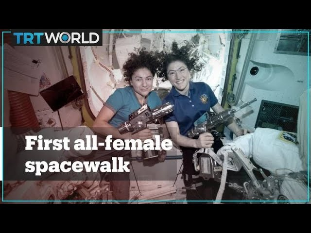 First all-female spacewalk makes 'HERstory'