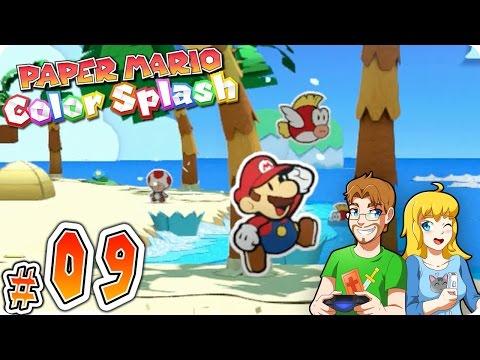 Paper Mario Color Splash Gameplay Walkthrough Part 9 Bloo Bay Beach