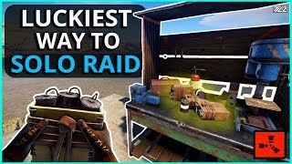 The LUCKIEST Way To Start SOLO RAIDING!! Rust Solo Survival Gameplay Part 2