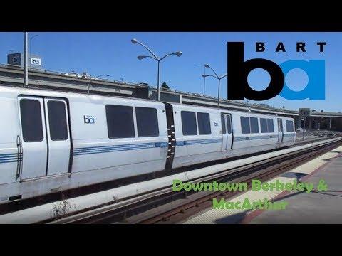 BART Trains at MacArthur & Downtown Berkeley