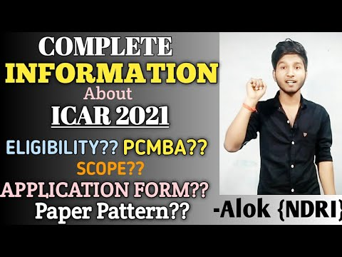 Complete Information About ICAR 2021   Syllabus,Eligibility, Paper Patternetc  MustVideofor ICAR