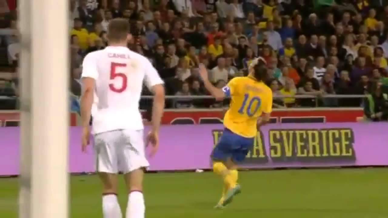Download Zlatan Ibrahimovic Schweden-England 4-2 - unglaublicher Fallrückzieher aus 30 Meter ! 14.11.12  HD