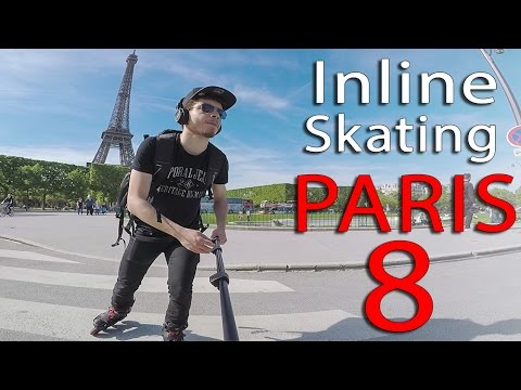 INLINE SKATING PARIS 8 - EIFFEL TOWER to Gare Montparnasse