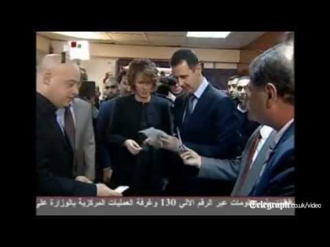 President Assad and wife cast ballots in Syria referendum