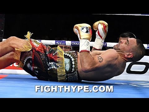ANTHONY MUNDINE IMMEDIATELY AFTER JEFF HORN KNOCKED HIM OUT; SAYS FAREWELL TO BOXING