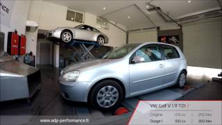 Reprogrammation moteur VW Golf 5 1.9 TDI 105 @ 150 PS - ADP Performance