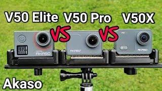 Akaso V50 Elite VS Akaso V50 Pro VS Akaso V50X - Action Camera Comparison