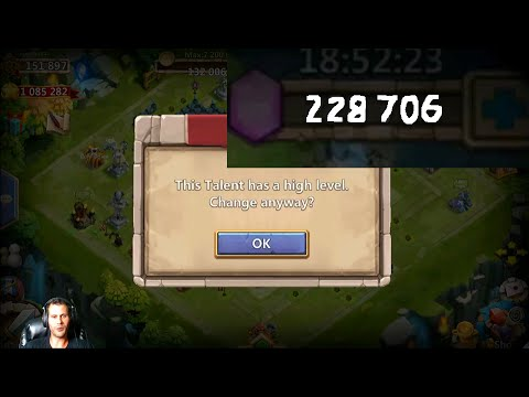 Rolling 230000 Gems $1100 Worth For Talents MAINLY Revite Castle Clash