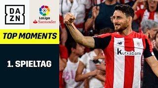 Top Moments - 1. Spieltag: Aduriz mit Flugeinlage, Toni Kroos zaubert | LaLiga | DAZN Highlights