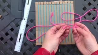 Weaving on a Cardboard Loom (part 1)