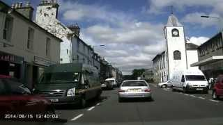 Dashcam to Newton Stewart, Dumfries & Galloway 2014