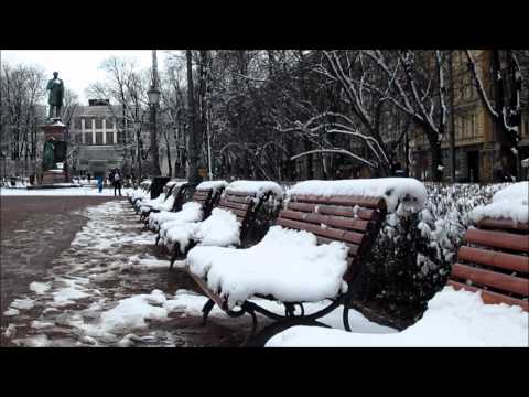 Beauty of a Fresh New Snow in Helsinki, Finland - April 02, 2012