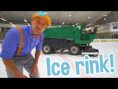 Blippi Visits an Ice Rink |  Learn About the Zamboni and Hockey | Educational Videos for Toddlers
