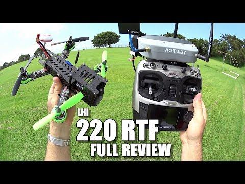 LHI 220 RTF FPV Race Drone Review - [Unbox / Inspection / Flight-CRASH! Test / Pros & Cons]