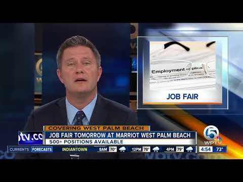 More than 500 positions available at West Palm Beach job fair Wednesday