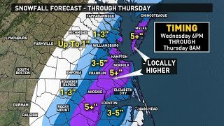 Winter Weather Forecast 1/2/18: Snow on the way for Wednesday and Thursday