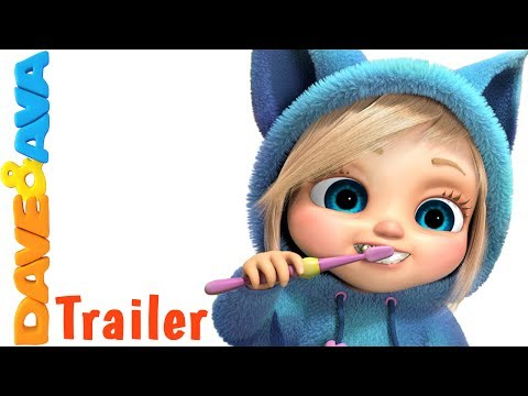 😃 Brush Your Teeth - Trailer | Nursery Rhymes and Kids Songs from Dave and Ava 😃