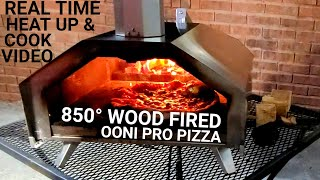 OONI PRO Pizza Oven WOOD FIRED 850 degrees in REAL TIME Margarita Pizza UUNI PRO