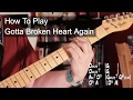 watch he video of 'Gotta Broken Heart Again' Prince - Chords, Bass and Guitar Solo