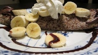 Danish Pancake (pandekage) With Nutella And Bananas! Yum! A Fun Way To Jazz Up A Danish Pancake!