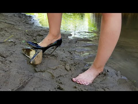 louboutin destruction, abused louboutin, broken louboutin, louboutin in mud, shoes mud (scene 39)