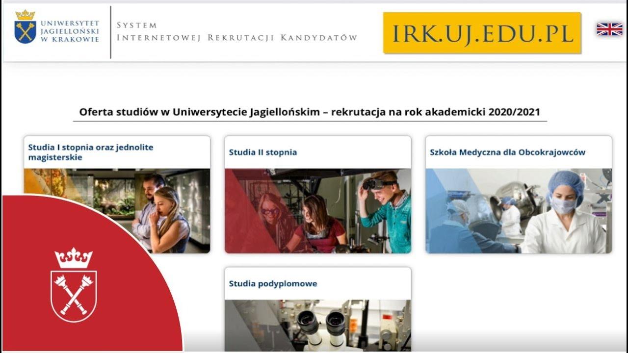 Krok 4. Sprawdzenie wyników rekrutacji na UJ w systemie IRK