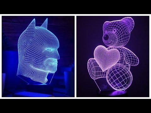 Светодиодный 3D светильник обзор / Детский 3д ночник купить