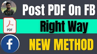 How to post a pdf on facebook right way 2021
