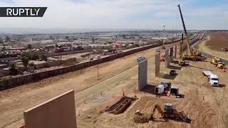 Trump's wall one step closer as prototypes erected near San Diego