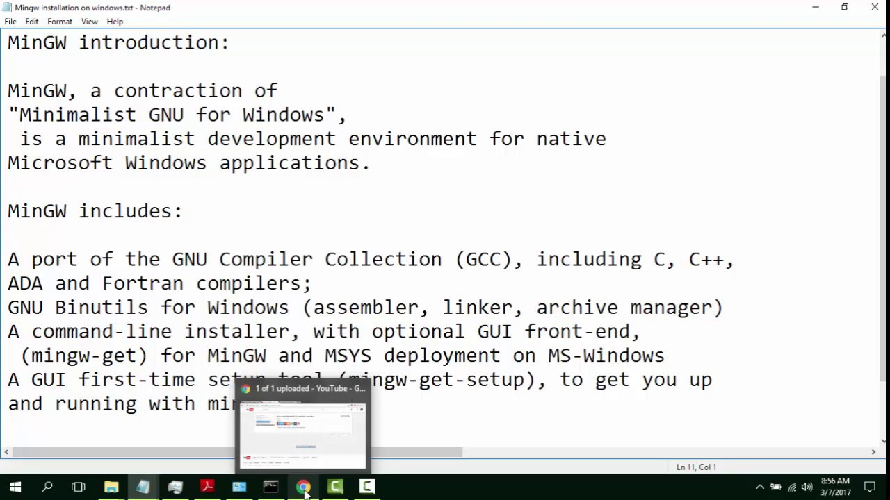 How to install MinGw (gcc ,g++ compilers)on Windows 10 Urdu tutorial