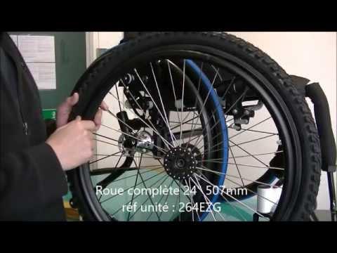 Adaptation roues ou pneus vtt sur fauteuil roulant youtube - Fauteuil roulant chenille ...