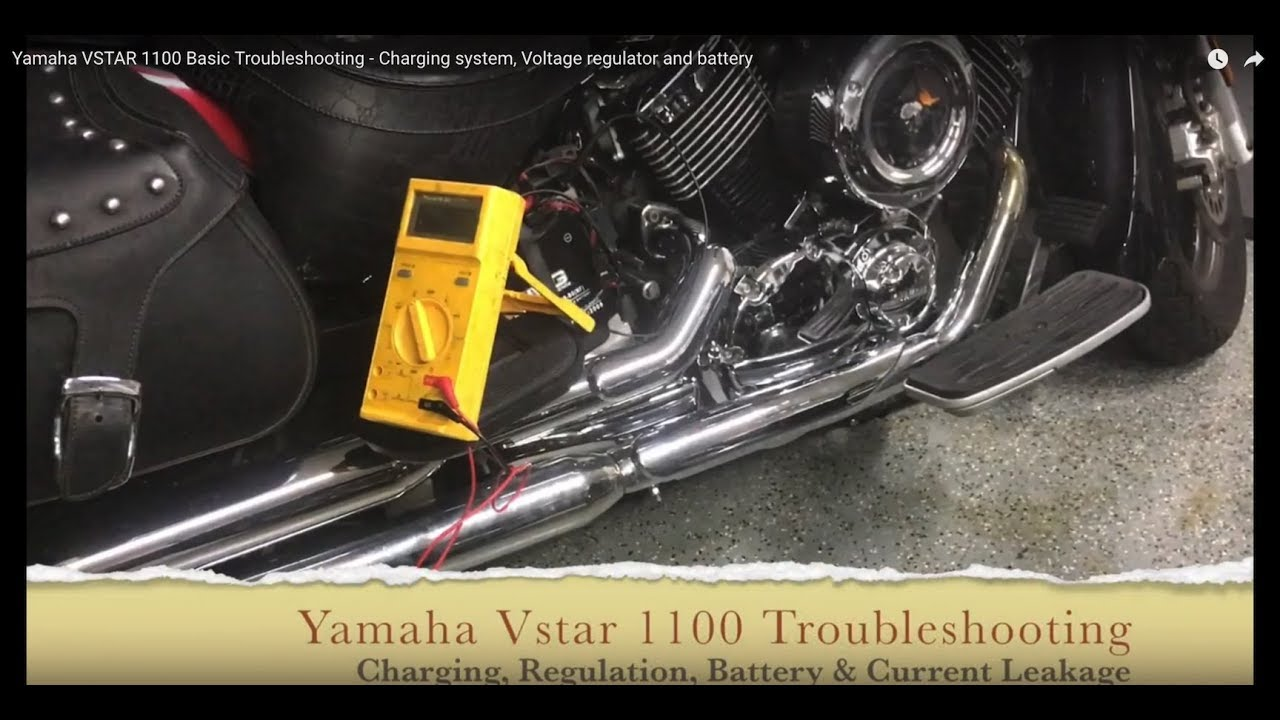 yamaha vstar 1100 basic troubleshooting - charging system, voltage  regulator and battery