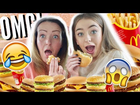 TRYING THE MCDONALDS