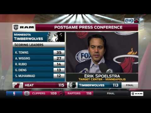 Erik Spoelsta—Miami Heat at Minnesota Timberwolves 2/6/2017