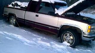 1994 GMC 1500 6.5L Diesel Cold Start!