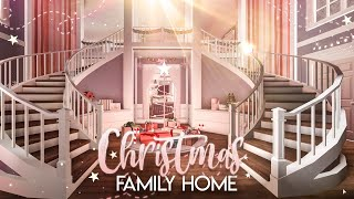 BLOXBURG| Christmas Family Home | House Build