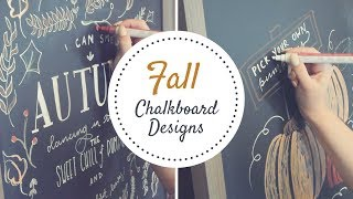 DIY FALL CHALK BOARD SIGNS|| FALL HOME DECOR || HAND LETTERING TOUR