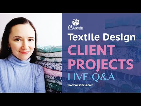 Freelance Textile Design Projects Live Q&A: Oksancia For Car